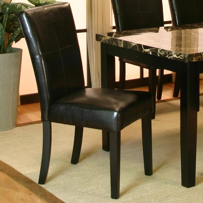 Cramco, Inc Chatham Black Polyurethane Side Chair  (RTA) - Item Number: 42072-01
