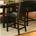 "Cramco, Inc Chatham Black Polyurethane 24"" Counter Stool  (RTA) - Item Number: 42072-24"