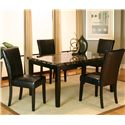 Cramco, Inc Chatham Rectangular Black Faux Marble Top - Shown with Side Chairs