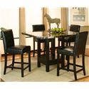 Cramco, Inc Chatham Square Clipped Corner Pub Table w/ Faux Marble Top - Shown with Counter Stools