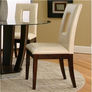 Cramco, Inc Contemporary Design - Emerson Ivory Vinyl Cut-Out Back Parson's Chair