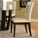 Cramco, Inc Contemporary Design - Emerson Ivory Vinyl Cut-Out Back Parson's Chair - Item Number: 45133-11