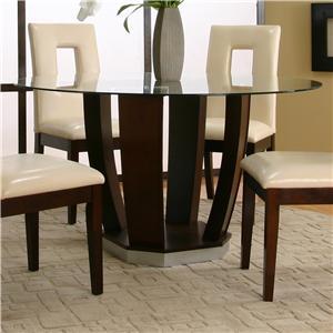 Cramco, Inc Contemporary Design - Emerson Round Tempered Glass Table