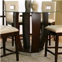 Cramco, Inc Contemporary Design - Emerson Round Tempered Glass Pub Table - Item Number: 45133-49+43