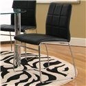Cramco, Inc Contemporary Design - Napoli Black Polyurethane Sled Side Chair - Item Number: F5476-01