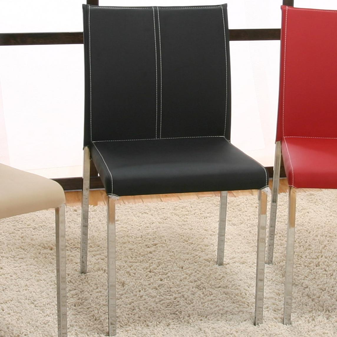 Cramco, Inc Contemporary Designs - Corona Chrome Stack Chair - Item Number: F5079-01