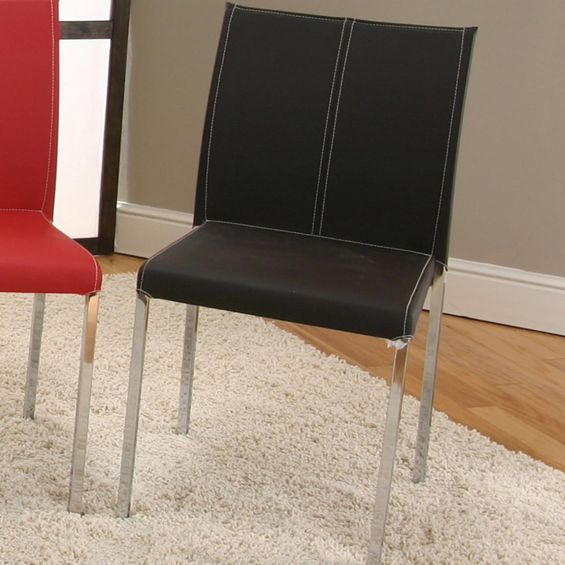 Cramco, Inc Contemporary Designs - Corona Chrome Stack Chair - Item Number: F5079-12