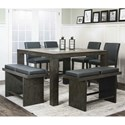 Cramco, Inc Cougar Table and Chair Set - Item Number: 25078-69+4x24+2x22