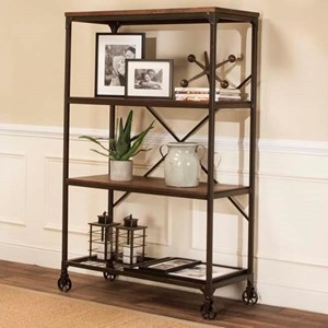 Wide Back Bookcase