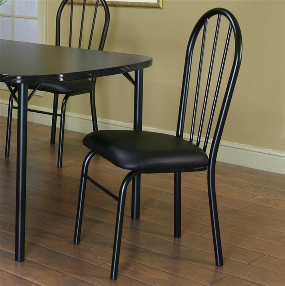 Cramco, Inc Cramco Dinettes - Ebony Vinyl Side Chair - Item Number: D8121_01