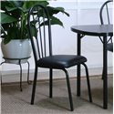 Cramco, Inc Cramco Dinettes - Ebony Black Texture/Black Vinyl Side Chair