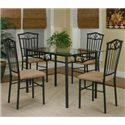 Cramco, Inc Cramco Trading Company - Laurel 5-Piece Dining Set - Item Number: Y2327-41+70