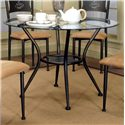 Cramco, Inc Cramco Trading Company - Maxwell Glass Top Dining Table - Item Number: 72454_41+72454_47