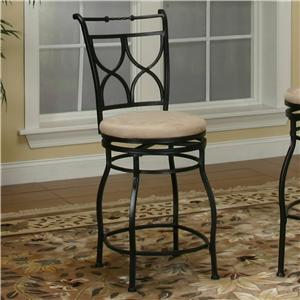 "Cramco, Inc Cramco Trading Company - Starling Microfiber X-Back 24"" Swivel Stool"