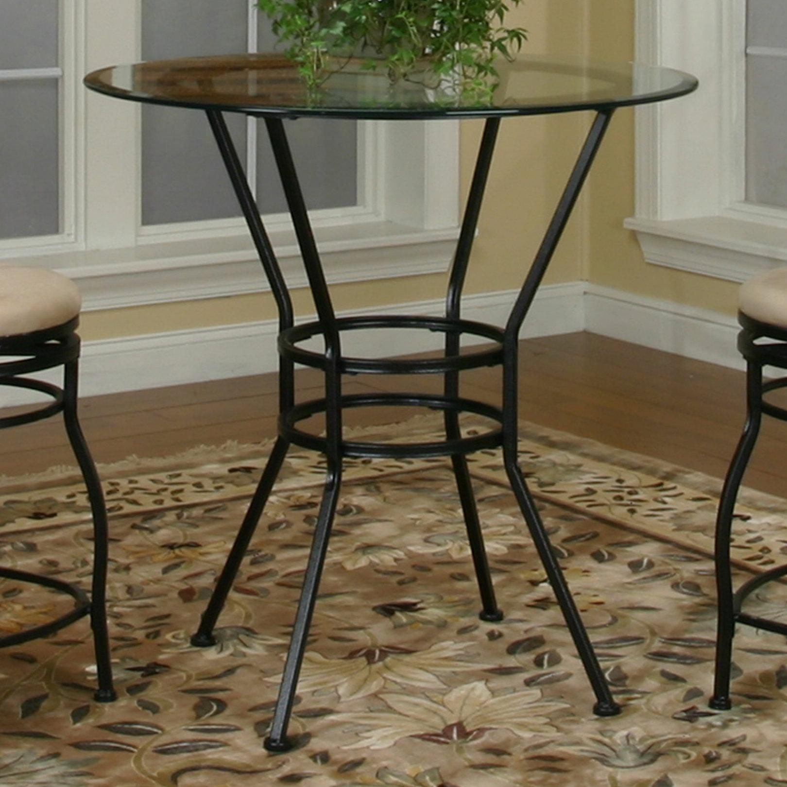 Cramco, Inc Cramco Trading Company - Starling Round Glass Pub Table - Item Number: 72688-49+43