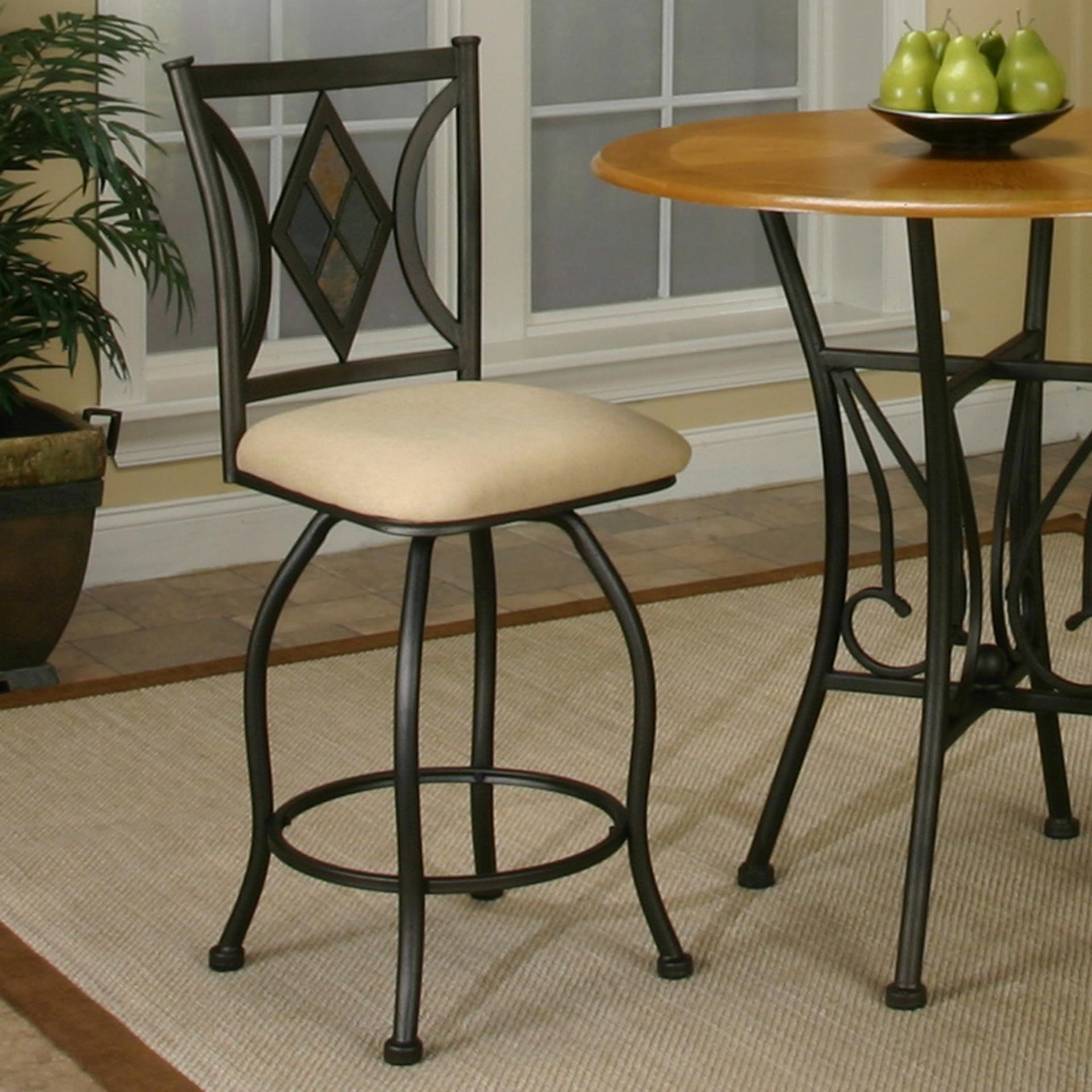 "Cramco, Inc Cramco Trading Company - Dart Herringbone 24"" Counter Stool - Item Number: Y2091-24"