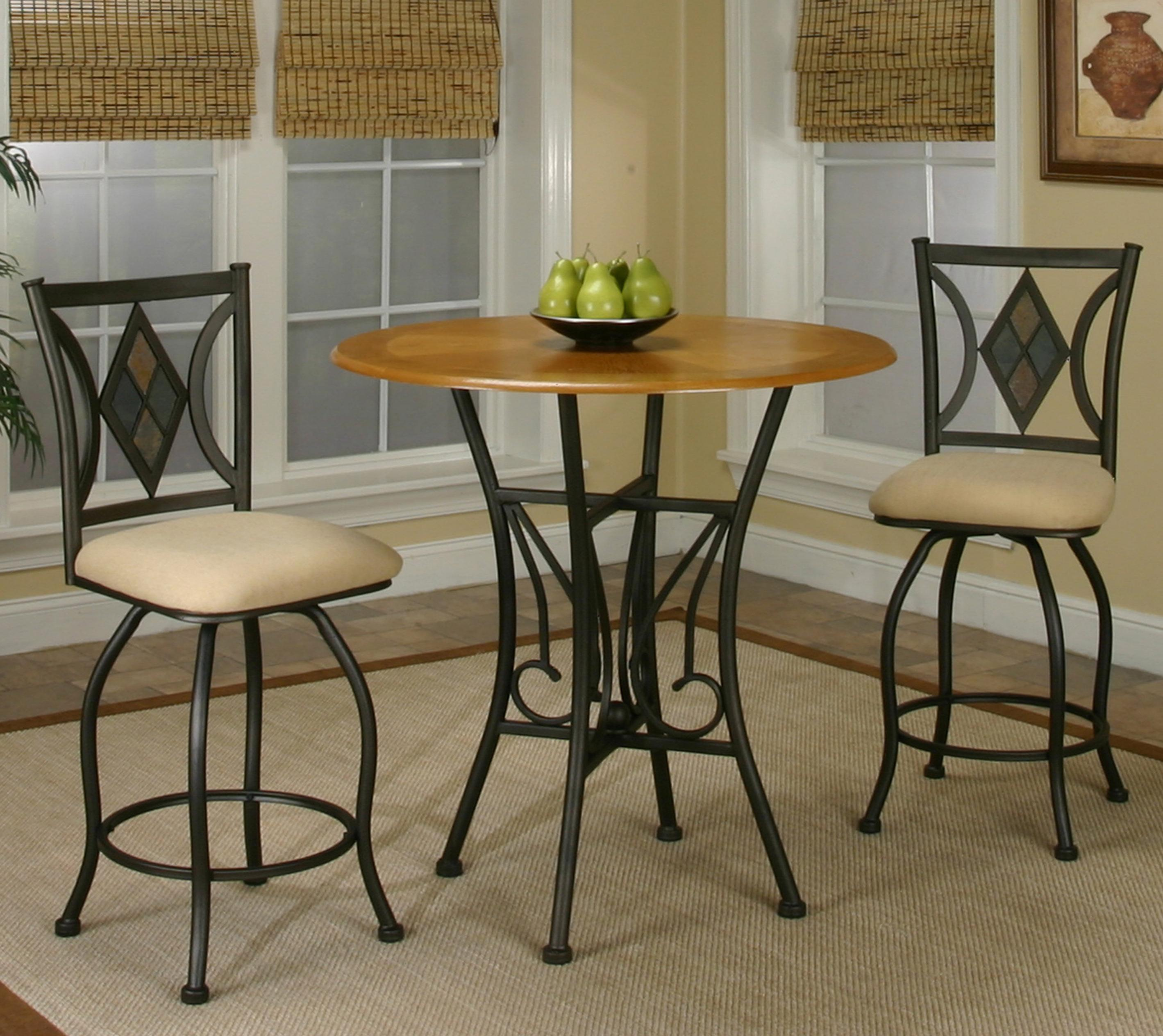 Cramco, Inc Cramco Trading Company - Dart Three Piece Dining Set - Item Number: Y2091-68+4x24