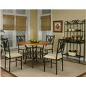 Cramco, Inc Cramco Trading Company - Dart Baker's Rack with Slate Inlay - Shown with Dining Table and Side Chairs