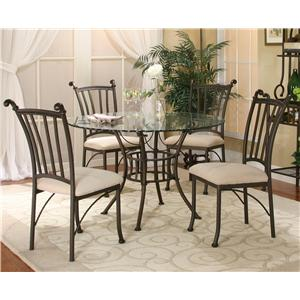 Cramco, Inc Marissa 5 Piece Round Glass Table with Chairs