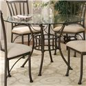 Cramco, Inc Denali 5 Piece Round Glass Table with Chairs - Table
