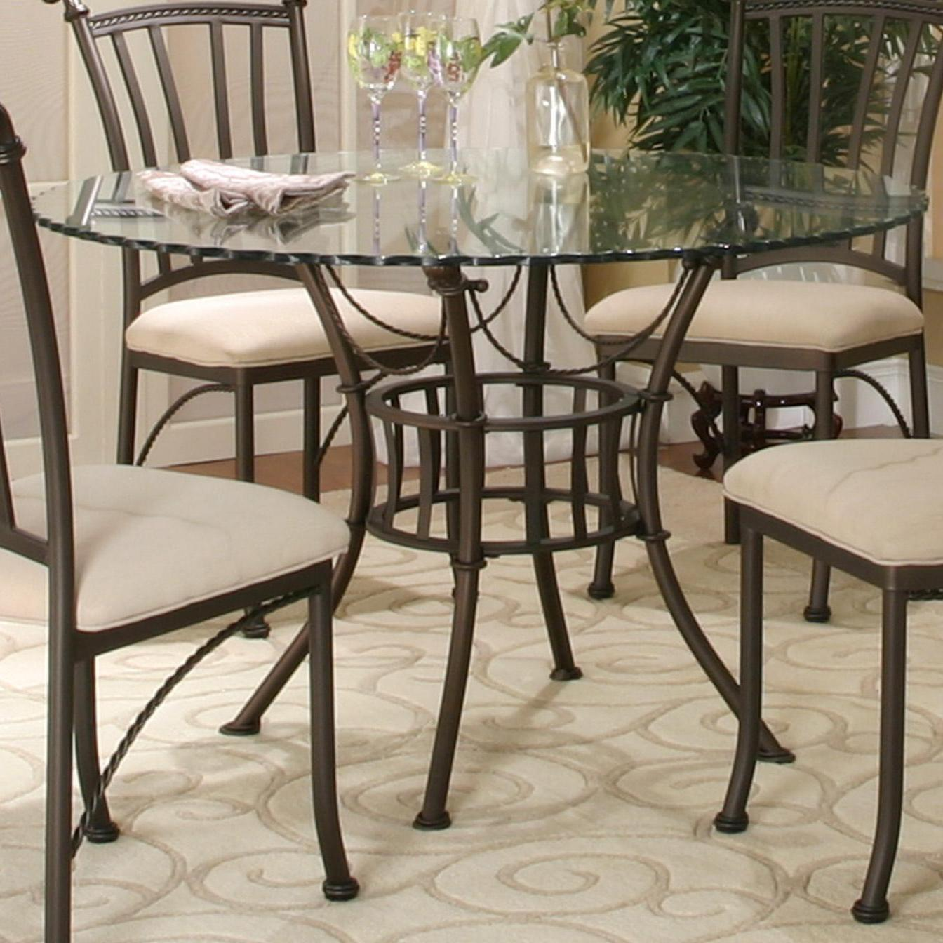 Glass Dining Room Table: Cramco, Inc Denali Round Glass Table Top With Molten Earth