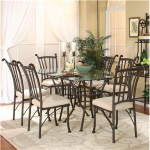 7 Piece Rectangular Glass Table with Chairs