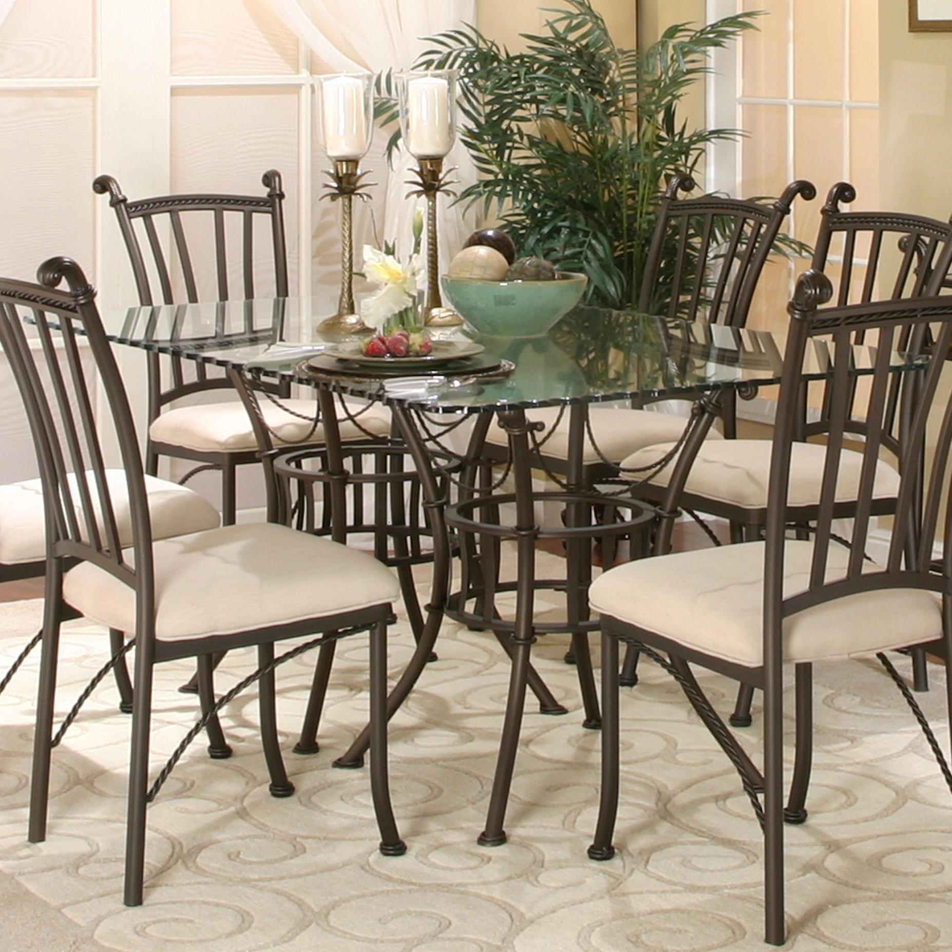 Cramco, Inc Denali Rectangular Glass Table - Item Number: 72095-42+2x47