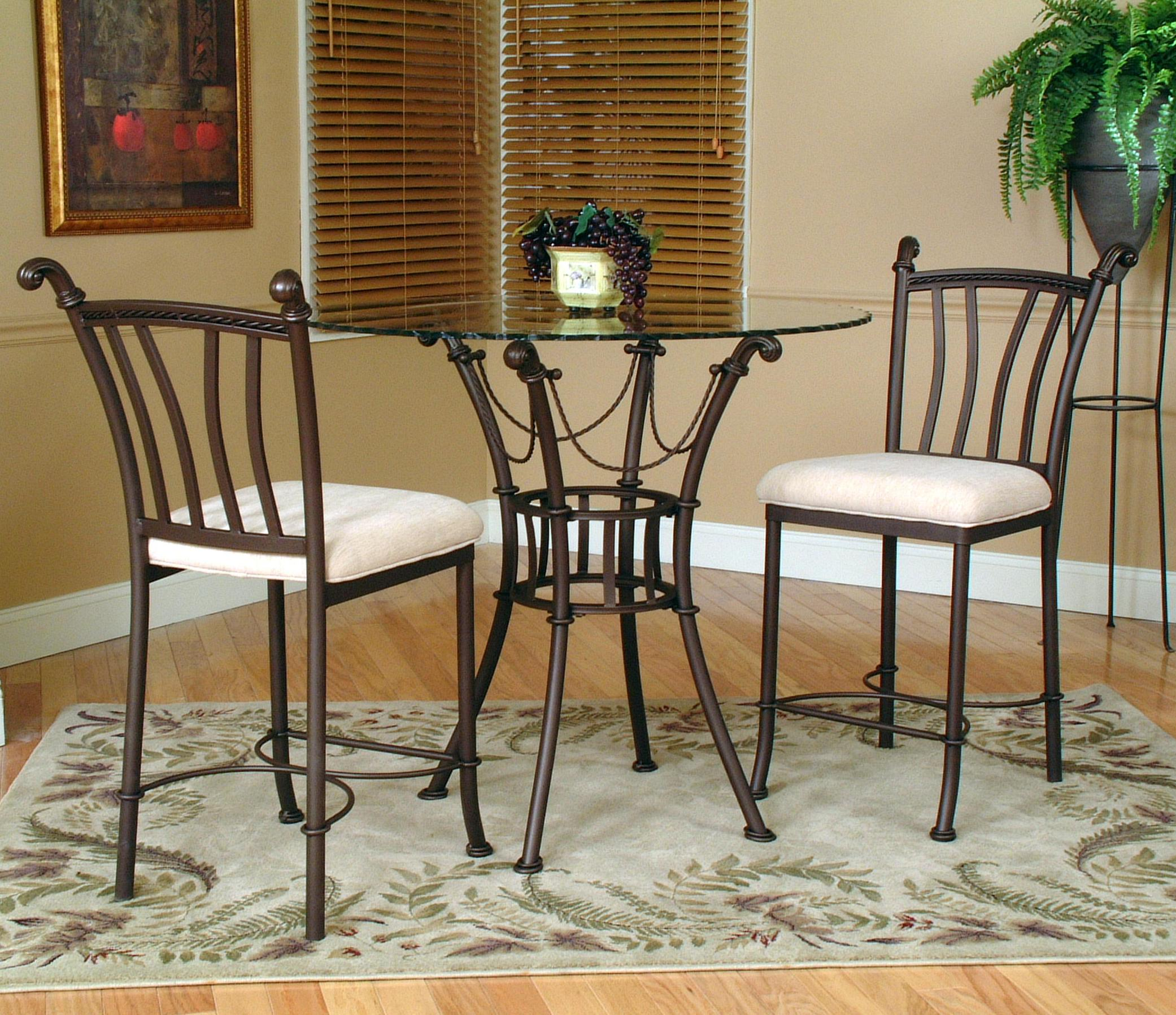 3 Piece Counter Height Gl Table And Chair