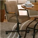 Cramco, Inc Cramco Motion - Dillon  Espresso Tilt-Swivel Chair  - Item Number: D8109-07+08