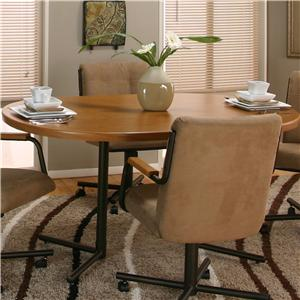 Cramco, Inc Cramco Motion - Dillon  Oval Sunset Oak Table