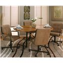 Cramco, Inc Cramco Motion - Dillon  Casual Oval Dinner Table - Sunset Oak Table Shown with Swivel Chairs
