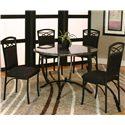 Cramco, Inc Electra 5 Piece Dining Set - Item Number: 72130-54+51+4x01