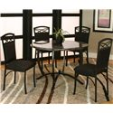 Cramco, Inc Electra Round Table w/ Faux Marble Top - Shown with Side Chairs