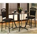 Cramco, Inc Electra Counter Height Table w/ Faux Marble Top - Shown with Stools
