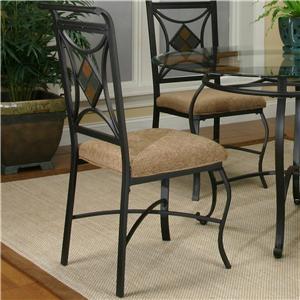 Espresso/Diamond Wheaten Side Chair