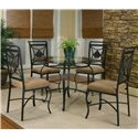 Cramco, Inc Cramco Trading Company - Glendale  Round Metal Table w/Glass Top - Round Table Shown with Side Chairs