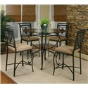 Cramco, Inc Cramco Trading Company - Glendale  Counter Table and Stools - Item Number: W2195-49+41+4x24