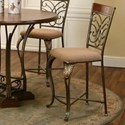 "Cramco, Inc Harlow Microsuede 24"" Counter Stool - Item Number: J9186-24"