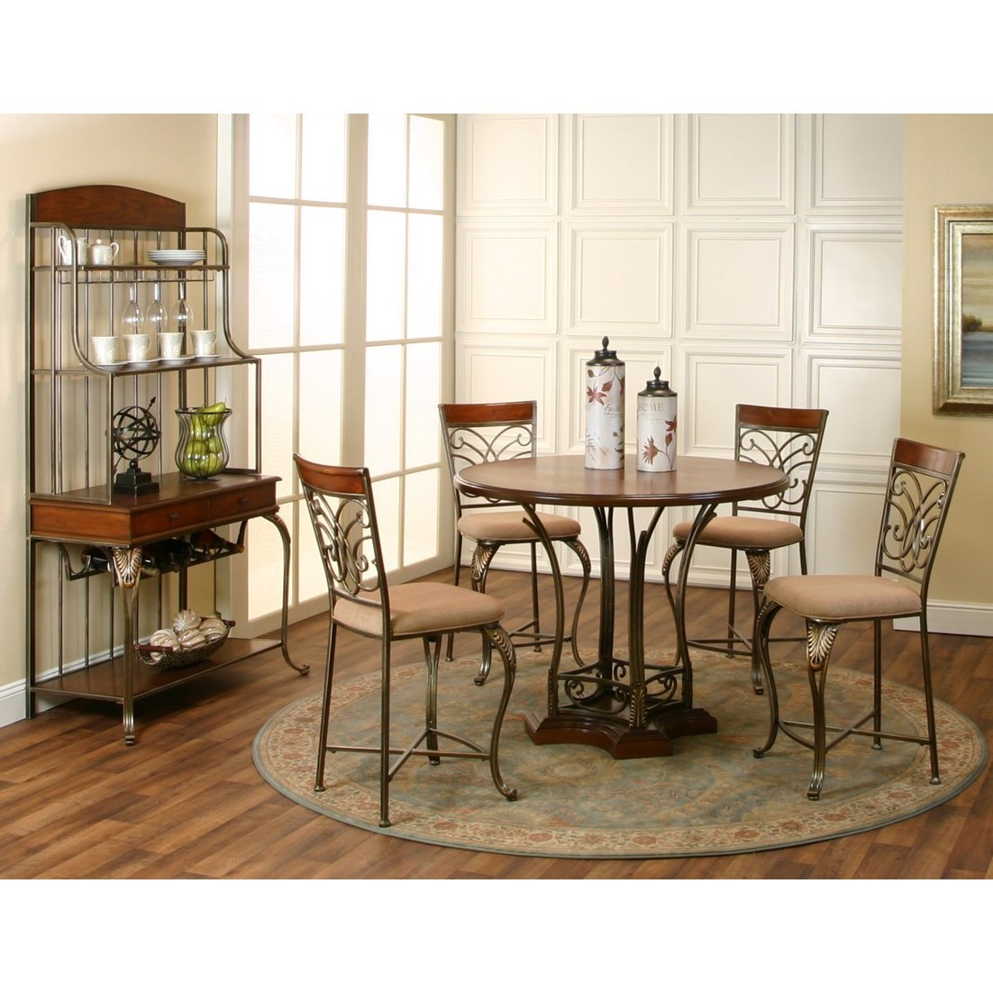 Dining Room Sets Nj: Cramco, Inc Harlow 5 Piece Counter Height Dining Set