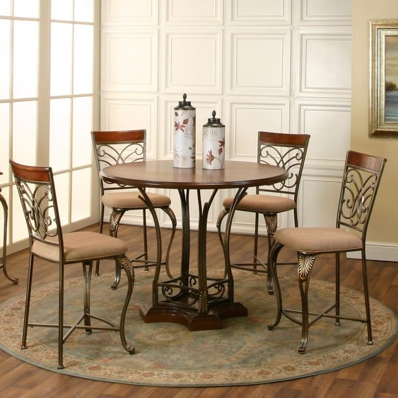 Cramco, Inc Harlow 5 Piece Counter Height Dining Set - Item Number: J9186-64+62+4x24