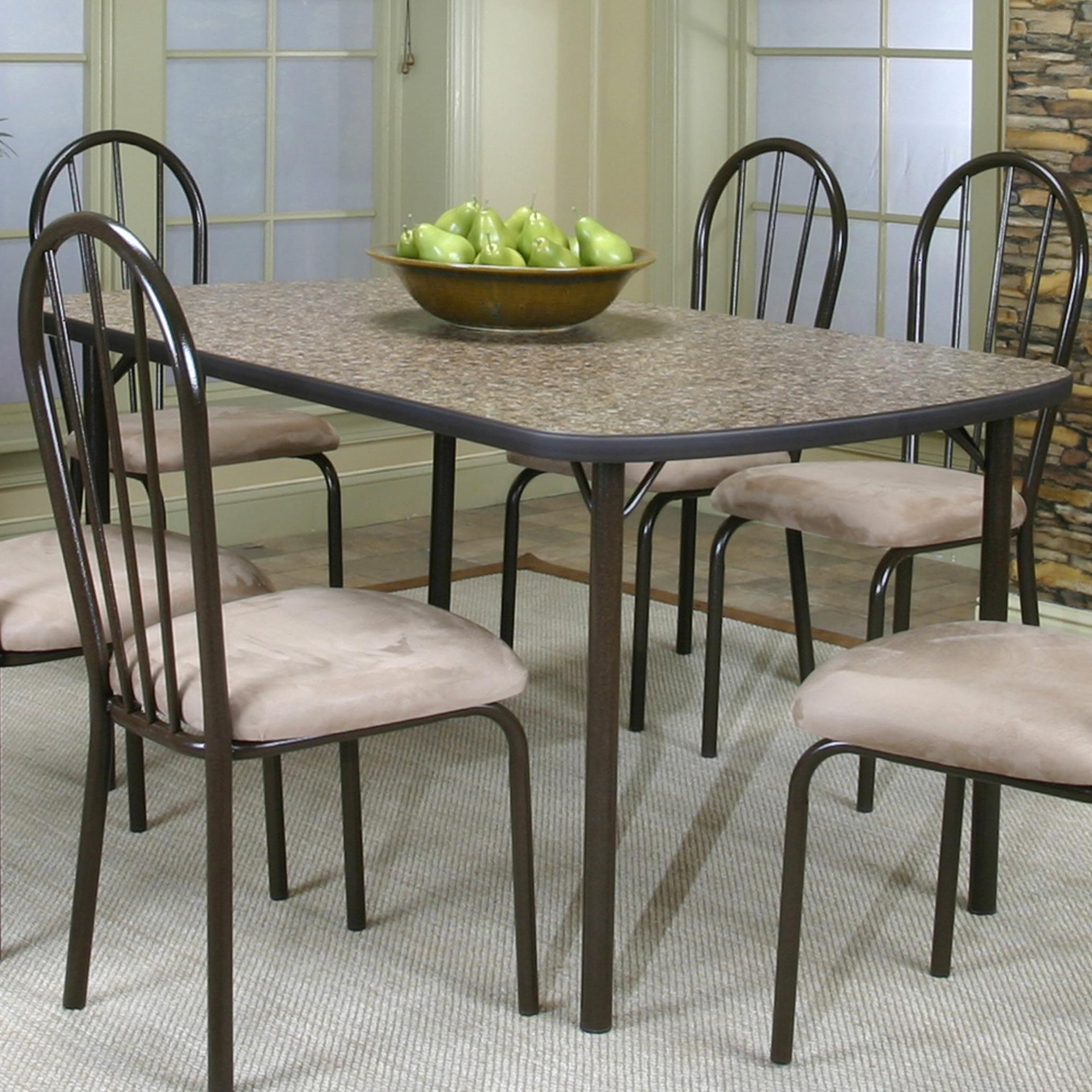 Cramco, Inc Cramco Dinettes - Heath Woodstock Granite Laminate Top Table - Item Number: D7227-53