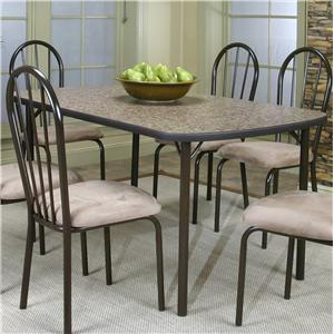 Cramco, Inc Cramco Dinettes - Heath Woodstock Granite Laminate Top Table