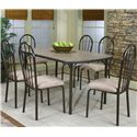 Cramco, Inc Cramco Dinettes - Heath Woodstock Granite Laminate Top Table - Shown with Side Chairs
