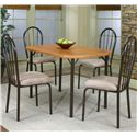 Cramco, Inc Cramco Dinettes - Heath 5 Piece Dining Set - Item Number: D7227-56+4x01