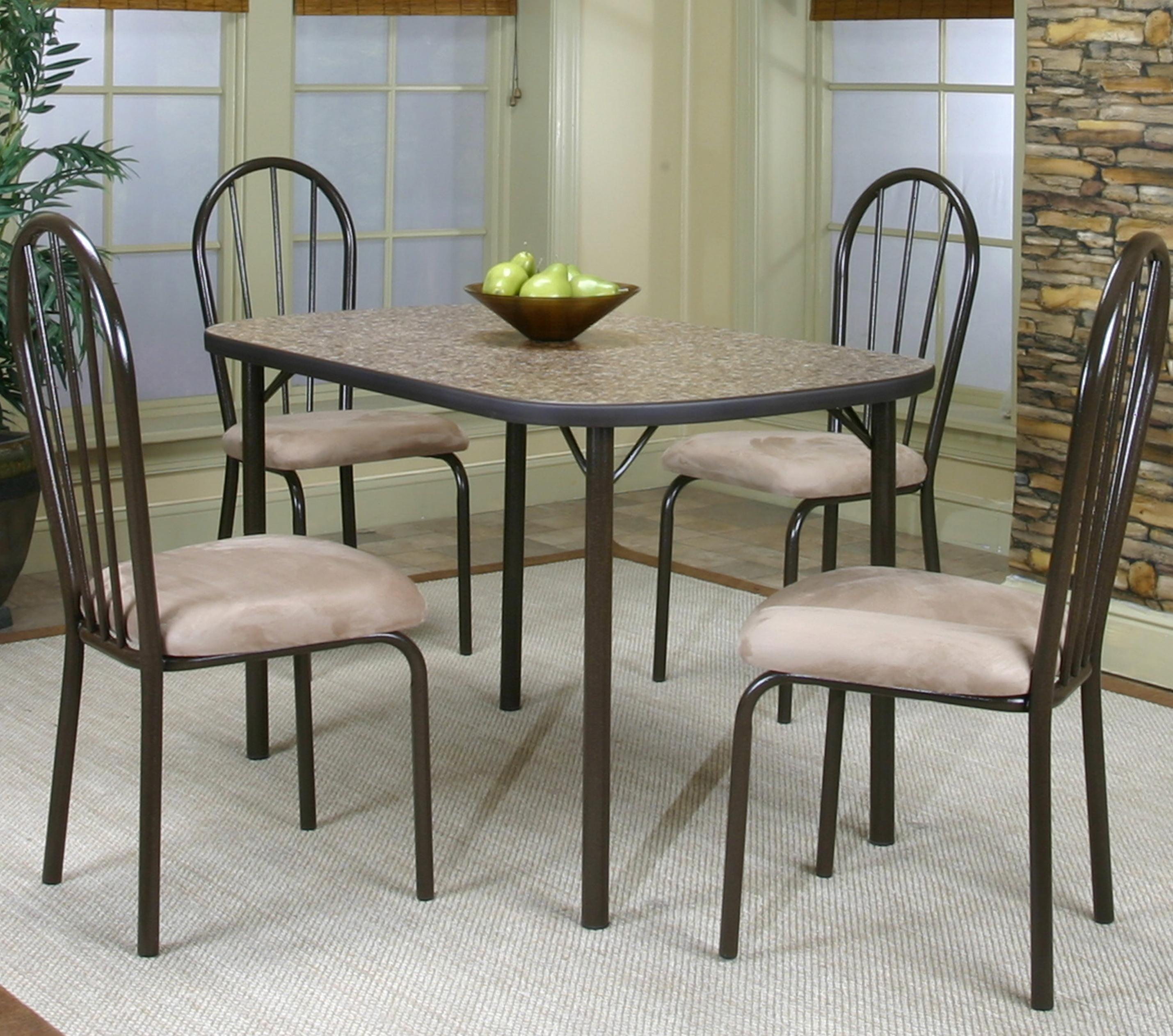Cramco, Inc Cramco Dinettes - Heath Woodstock Granite Laminate Top Table - Item Number: D7227-58+4x01