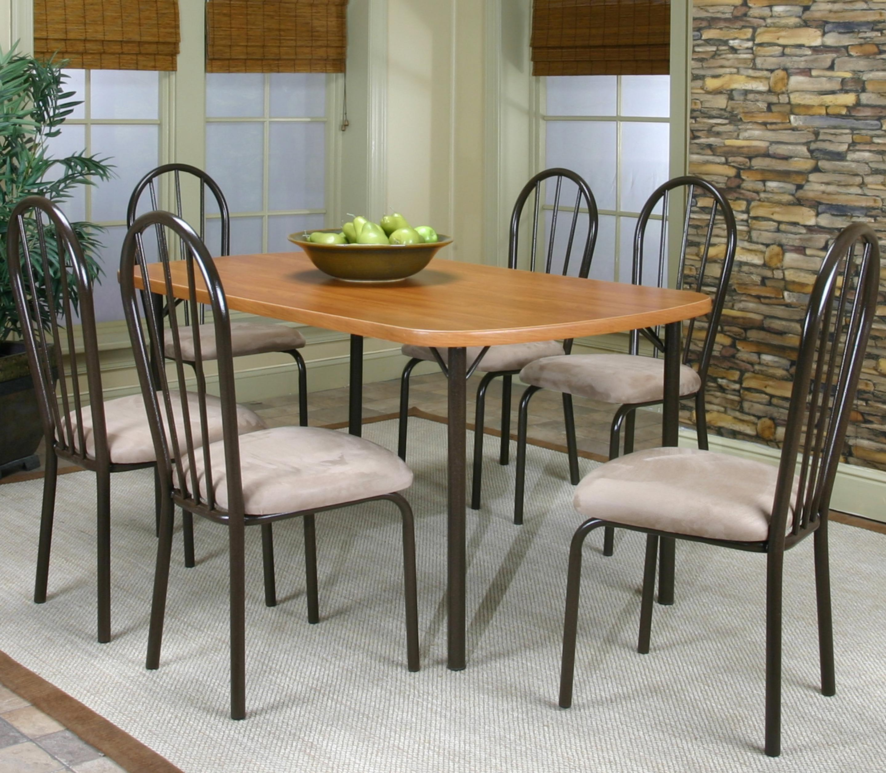 Cramco, Inc Cramco Dinettes - Heath 7 Piece Dining Set - Item Number: D7227-60+6x01