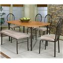Cramco, Inc Cramco Dinettes - Heath Laminate Top Leg Table - Shown with Side Chairs and Bench
