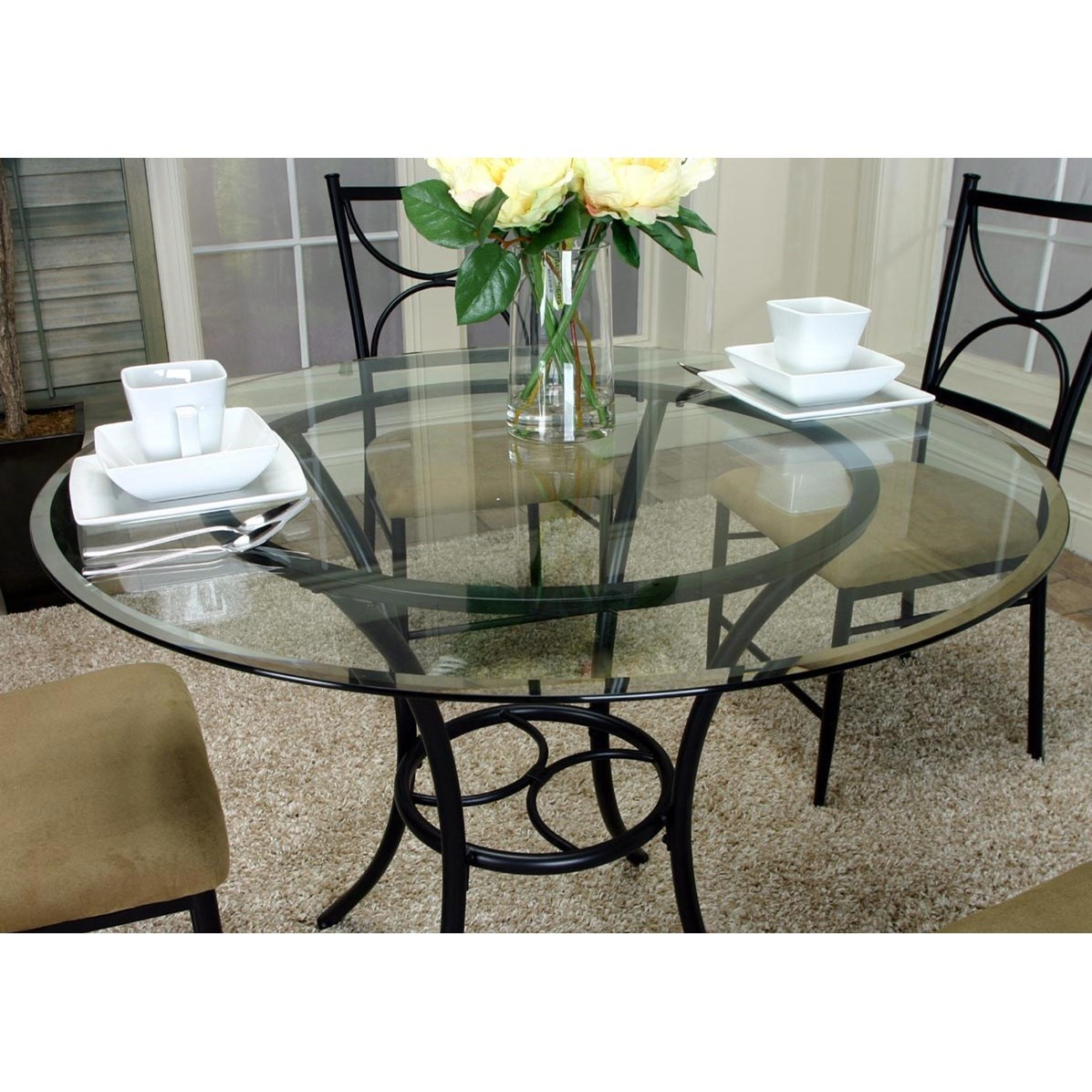 Cramco Inc Hudson 5 Piece Round Glass Top Table Set  : products2Fcramco2Cinc2Fcolor2Fhudsonw2230w2230 702B41 b3 from www.valuecitynj.com size 1197 x 1197 jpeg 253kB