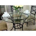 Cramco, Inc Hudson 5-Piece Round Glass Top Table Set