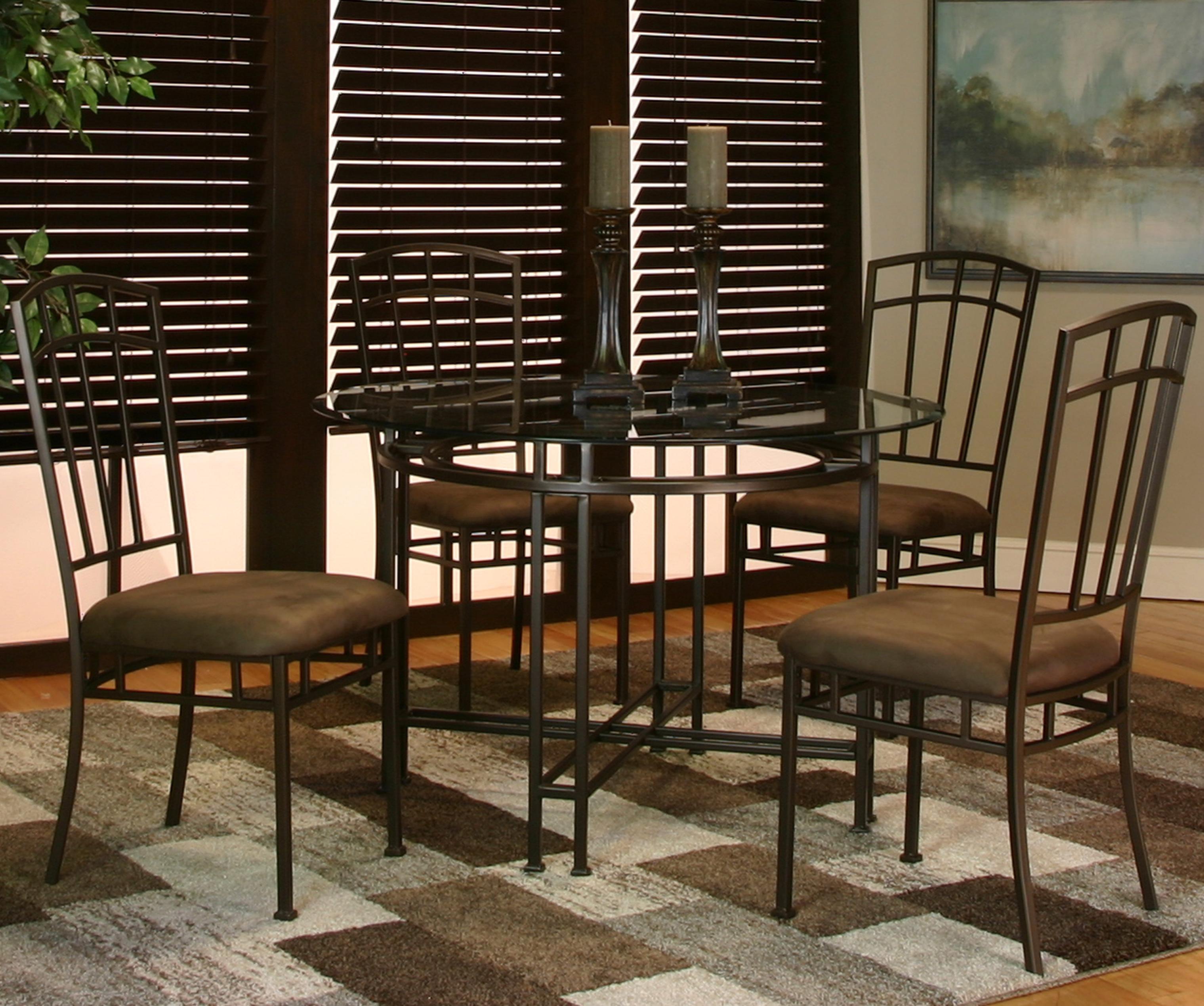 Cramco, Inc Ivana 5 Piece Dining Set - Item Number: 72260-47+41+4x01